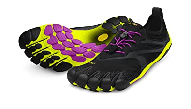 Vibram Women's Bikila Evo Road Running Shoe, Black/Yellow/Magenta, 36 EU
