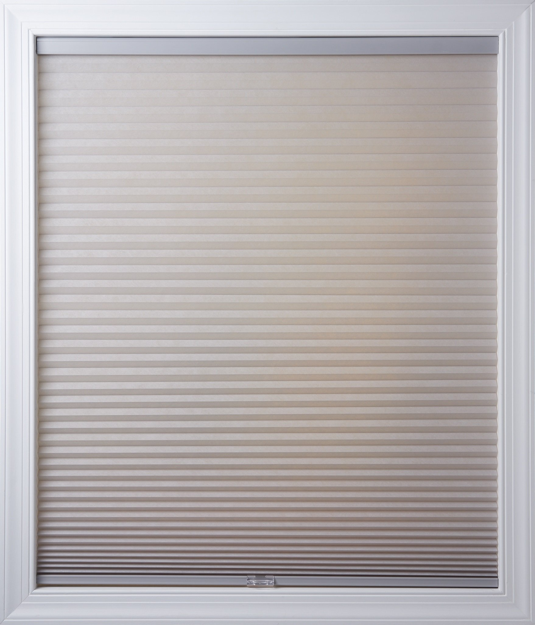 New Age Blinds Light Filtering Inside Frame Mount Cordless Cellular Shade 46-1/2 x 72-Inch Gray Sheen by New Age Blinds