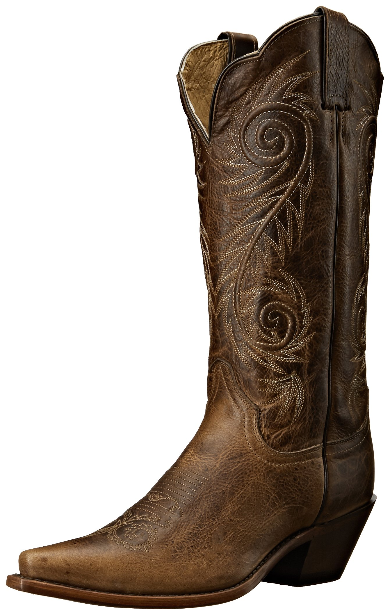 Justin Boots Women's Classic Western Boot Narrow Square Toe,Tan Damiana,9.5 B US