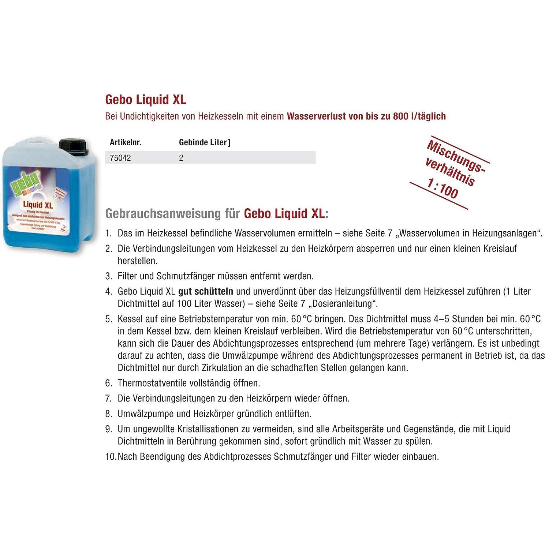 Gebo 75042 Liquid XL 2l Dichtmittel Flüssigdichtmittel ...