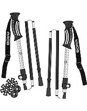 BoraSports 2er-Set Wanderstöcke faltbar, leicht und ultrakompakt - verstellbare Trekkingstöcke mit Klemmverschluss