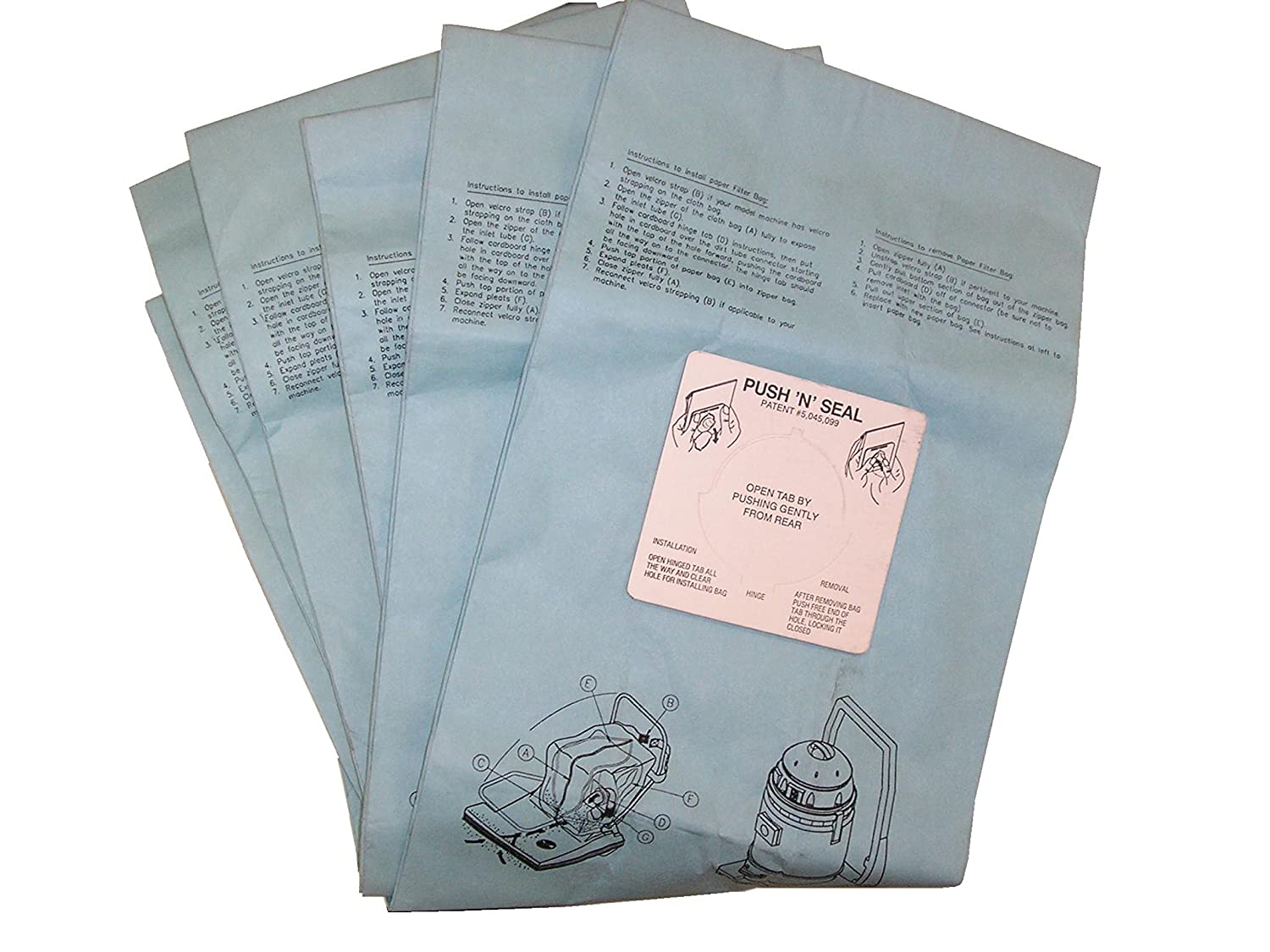 """BISSELL BigGreen Commercial BG332844 Disposable Bags for BG-CC28 28"""" ComVac Wide Area Vacuum"""