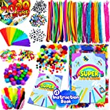 InnoRock Arts and Crafts Supplies for Kids - Assorted Craft Art Supply Kit for Toddlers Age 4 5 6 7 8 9 - Large All in One D.