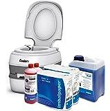 Campingtoilette Starter-Set Blue 5,0 Liter Enders Comfort [ 4946 ]: inkl. Sanitärflüssigkeit und WC Papier - mobile Chemietoilette Campingklo Camping-Toilette