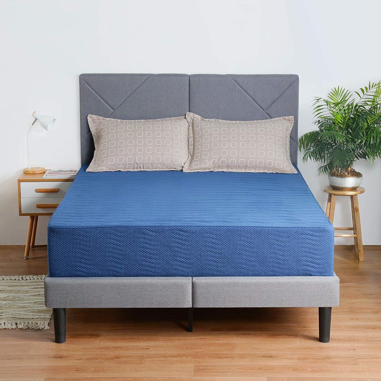 Olee Sleep 8 Inch New Safe Comfort Memory Foam Mattress, Blue, Twin
