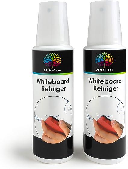 Officetree Nettoyant Tableau Blanc 2 X 250 Ml Whiteboard Cleaner Spray Nettoyant Pour Nettoyer Les Tableaux Blancs Magnetiques Amazon Fr Fournitures De Bureau