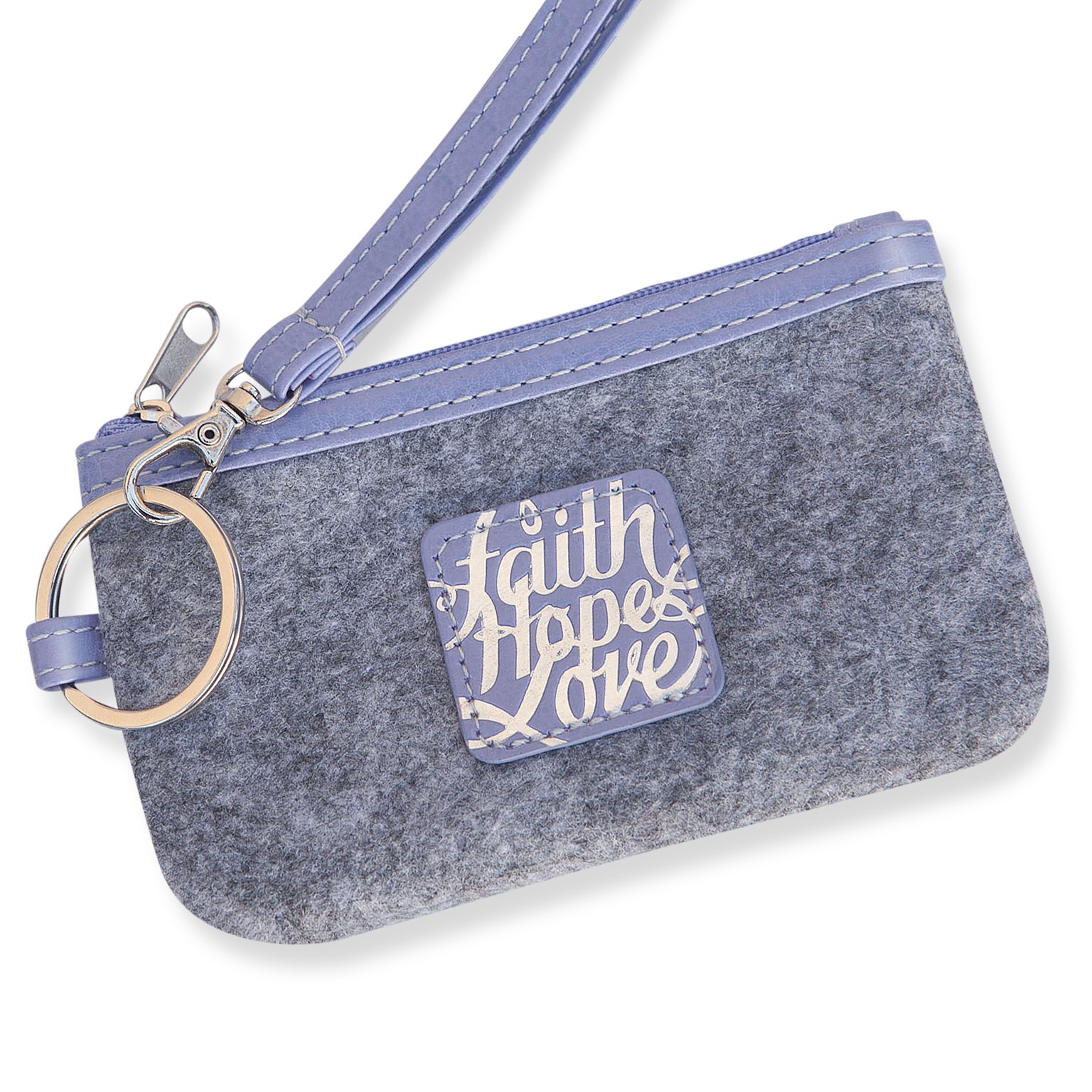 Bellerina Coin Purse Small Zip ID Credit Card Case Religious Gift for Adults