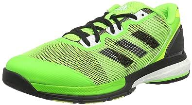 adidas Stabil Boost II - Chaussures de Handball pour Homme, Vert, Taille: 45