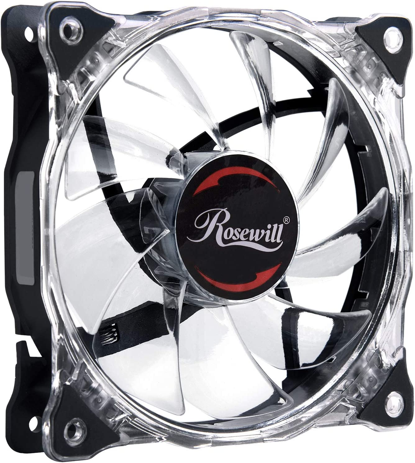 Rosewill 120mm CULLINAN Computer Case Cooling Fan with LP4 Adapter Semi-Transparent Frame /& Blue LED Lights Silent RFA-120-WL Sleeve Bearing