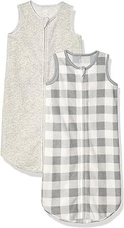 Amazon Essentials Girls' 2-Pack Microfleece Baby Sleep Sack