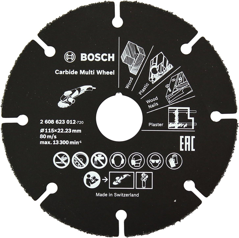 Bosch Professional 2608623012 Disco multimaterial de carburo para amoladora (115 mm)