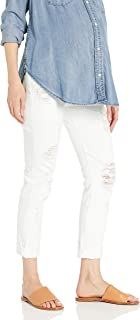 product image for James Jeans Women's Neo Beau Under-Belly Maternity Boyfriend in Destroyed White