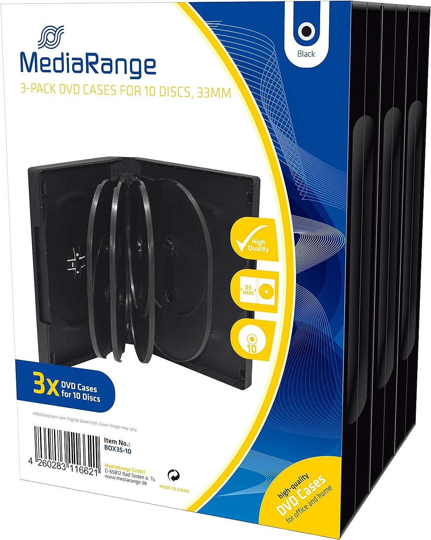 MediaRange BOX35 -10 - 3 x cajas de DVD para 10 discos ópticos: Amazon.es: Informática