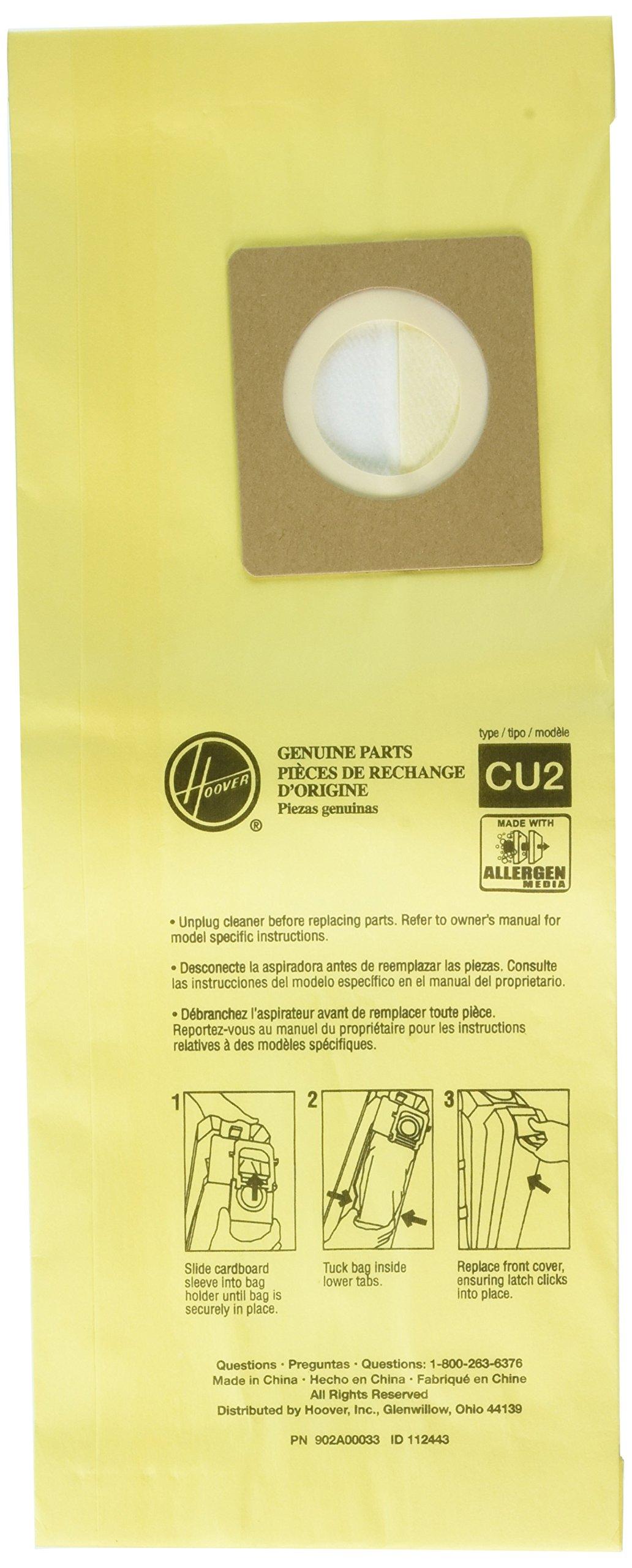 Hoover AH10243 Paper Bag, Allergen Filtration Hushtone 10 Pk