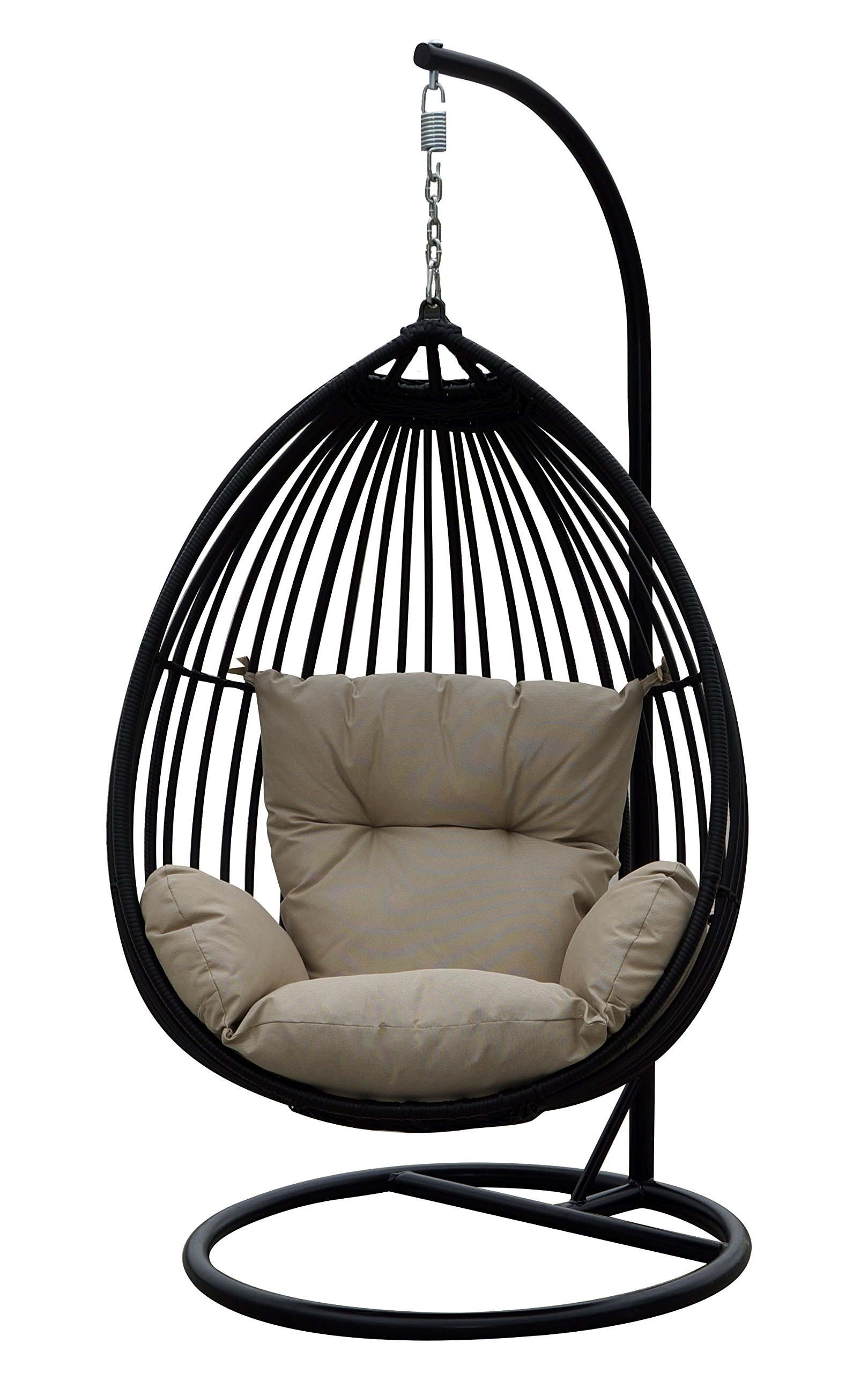 Darlee Tear Drop Shaped Swing Chair with Cushion by Darlee