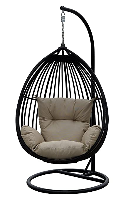 Phenomenal Darlee Tear Drop Shaped Swing Chair With Cushion Ocoug Best Dining Table And Chair Ideas Images Ocougorg