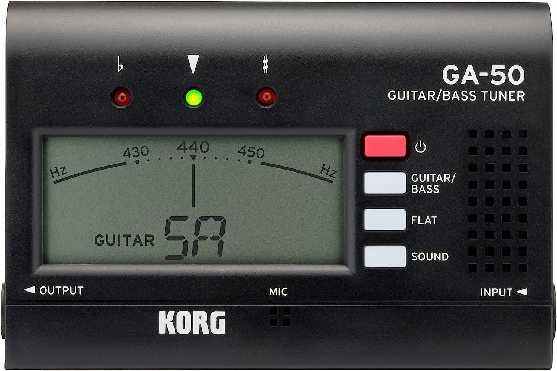 Korg GA50afinador de guitarra negro