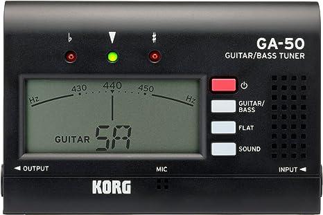Korg GA50 afinador de guitarra negro: Amazon.es: Instrumentos ...