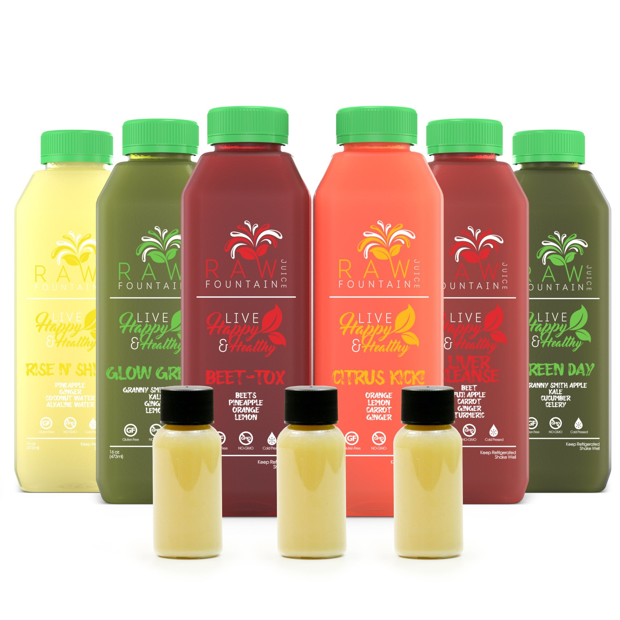 Amazon juice cleanse 2 day organic cold pressed juice and 3 day juice cleanse by raw fountain juice 100 fresh natural organic raw vegetable malvernweather Images