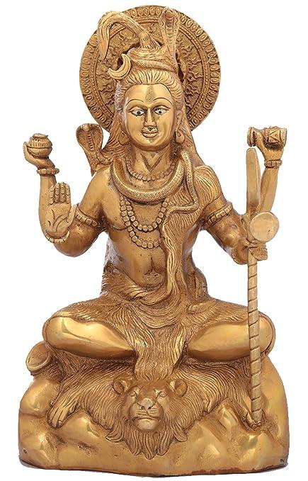 Amazon Com Kapasi Handicrafts Emporium Brass Lord Shiva Standing