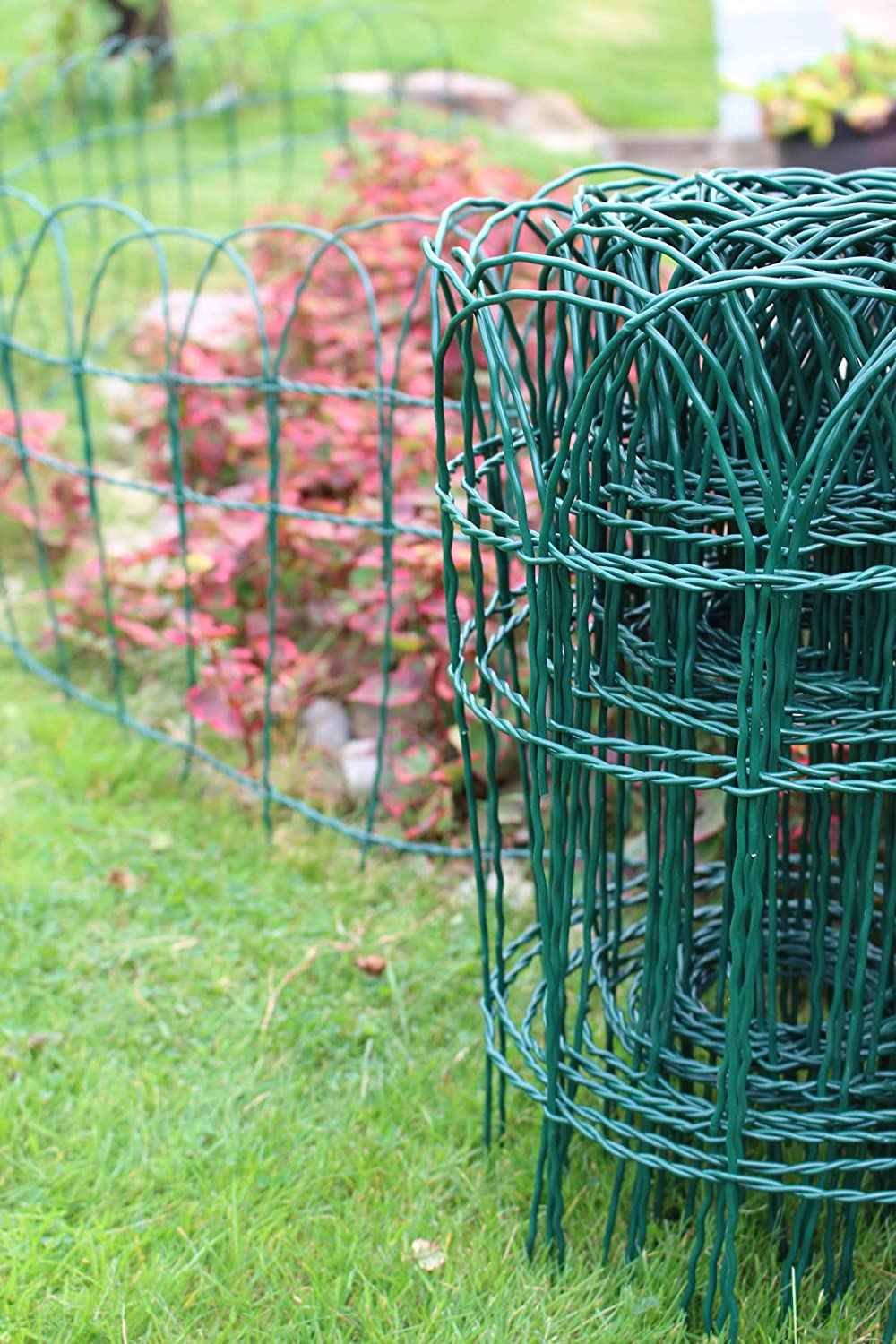Garden Border Lawn Edging 10m X 400mm Or 650mm PVC Coated Green Wire Fencing  (1, 400mm Height 512): Amazon.co.uk: Garden U0026 Outdoors