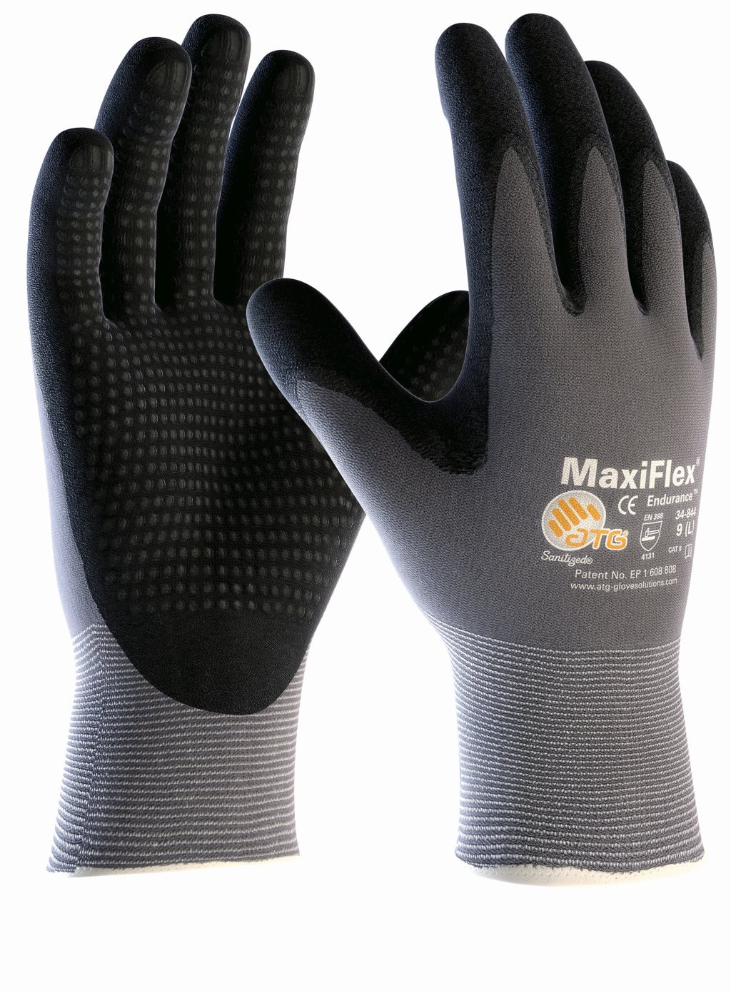 5 Pairs Nylon Knitted Gloves MaxiFlex Endurance 2442, Gr.8, 38