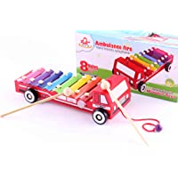 Wooden Toys Ambulance Fire Xylophone