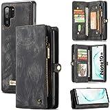 Zttopo Galaxy Note 10 Plus /10+ Wallet Case, 2 in 1 Premium Leather Zipper Detachable Magnetic 11 Card Slots Folding Flip Mon