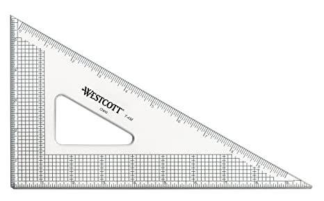 amazon com westcott grid triangle 10 30 60 degree transparent