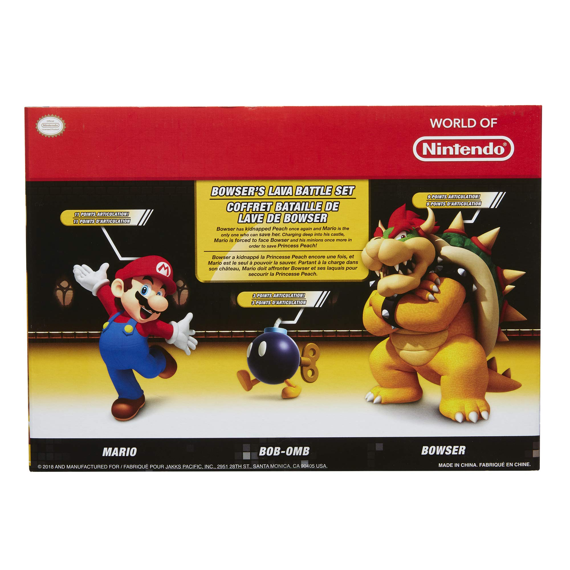 Nintendo Super Mario Bowser Vs Mario Diorama Figure 3 Pack by Nintendo (Image #8)