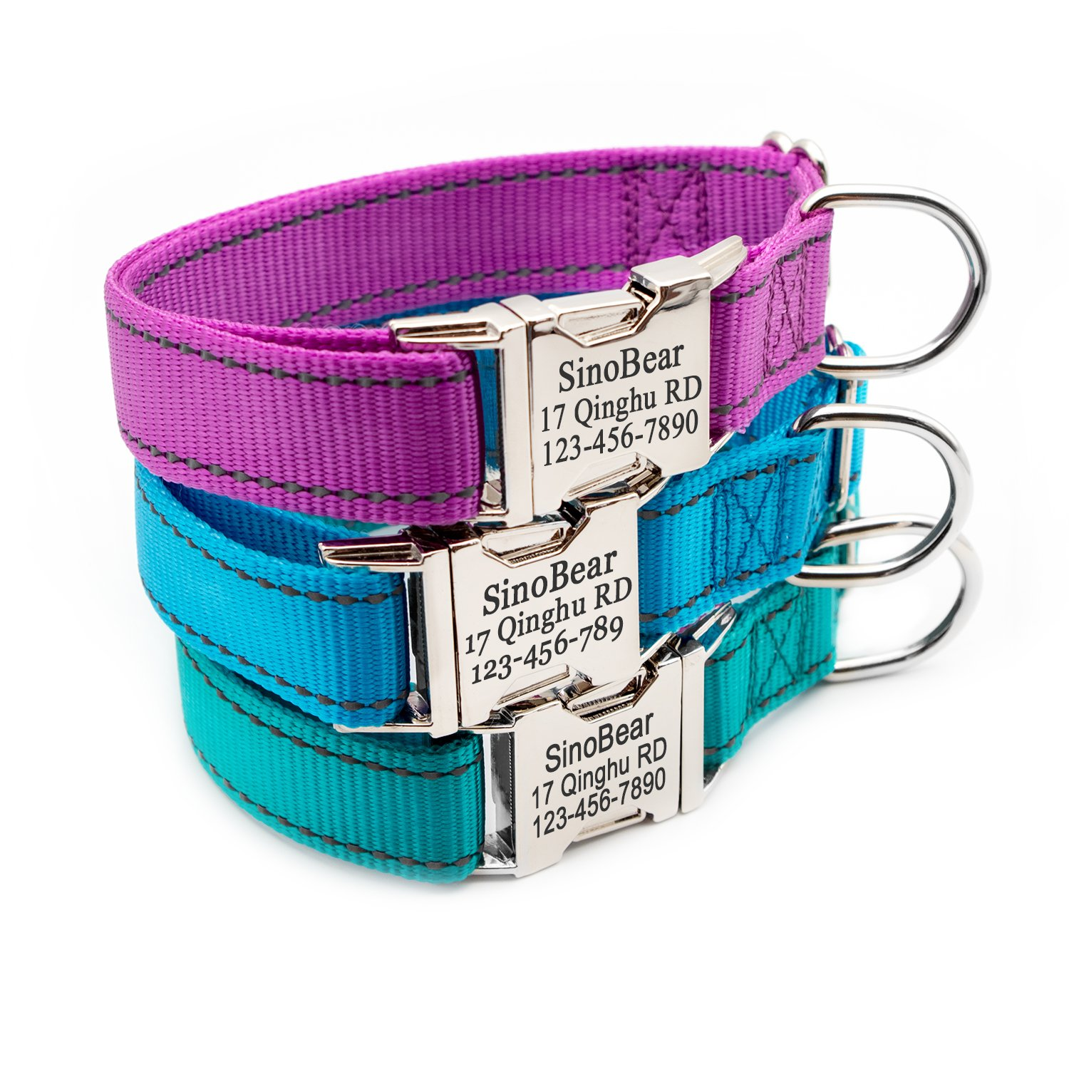 Personalized Dog Collar, Reflective Custom Dog Collar with Name Phone  Number Adjustable Size (XS SML)