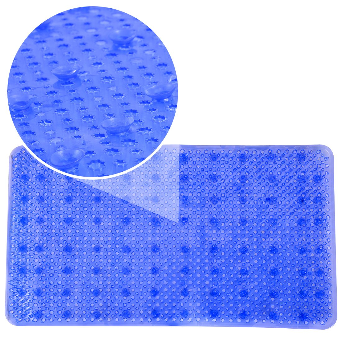 Clear YHLCSQ Soft As Grass Bath Mats Shower and Tub Mat Foot Scrubber Non-Slip Anti-Bacterial Machine Washable PVC Suction Rectangle 25/×14 inch footmat