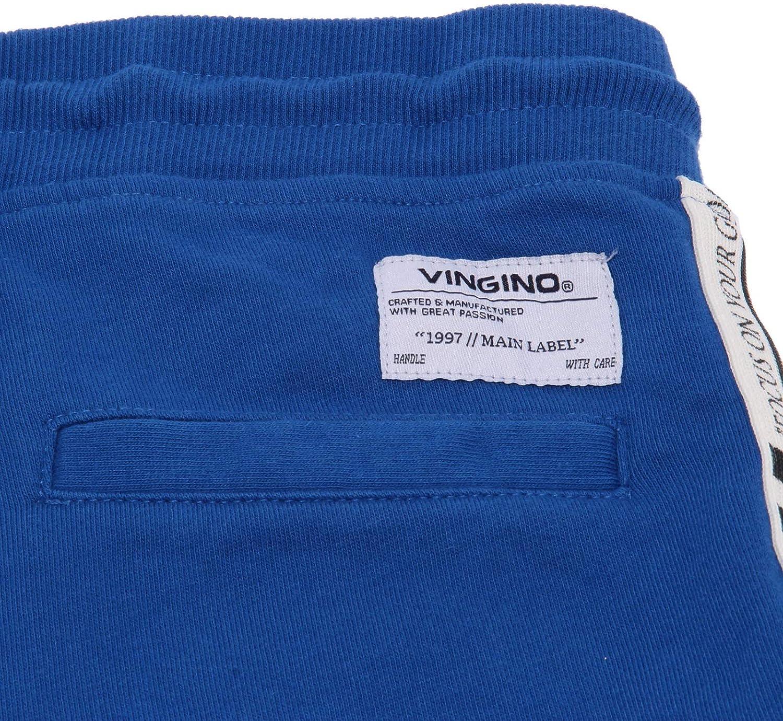 Vingino 6979AB Bermuda Bimbo Boy Blue frajed Sweatpant Shorts Kids