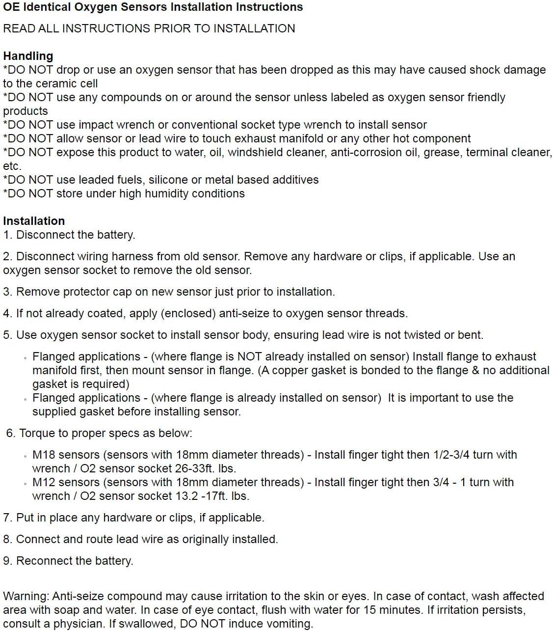 Sensor Compatible with 05-06 E320 // 07-09 CLK63 AMG 06-16 Z4 // 07-10 X5 X3 // 06-07 530XI 530I // 08 528XI // 09-10 528I XDRIVE // 08-10 528I // 06-07 525XI 525I UPSTREAM LEFT Oxygen O2