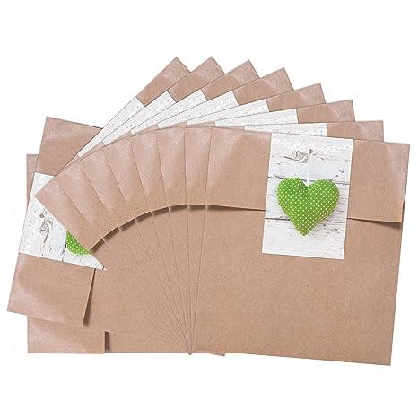 25 pequeñas bolsas marrones bolsas papel (13 x 18 + 2 cm ...