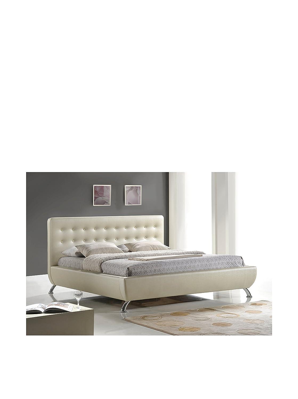 Amazoncom Baxton Studio Elizabeth Pearlized Modern Bed with