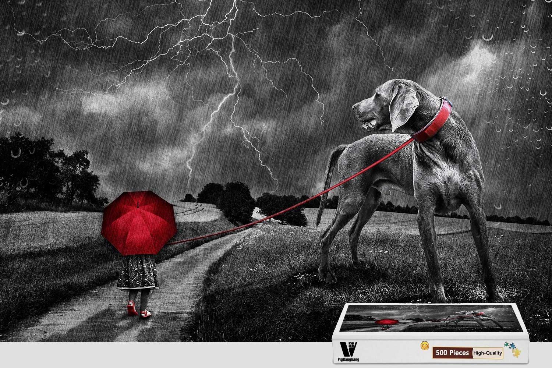 激安大特価! pigbangbang、20.6 X 15.1インチ、ハンドメイドintellectivゲームプレミアム木製DIY接着のJigsaw B07FLH4ZXN – Nice Painting – X Storm犬 – 300ピースジグソーパズル B07FLH4ZXN, 長沼町:65d00a99 --- 4x4.lt