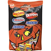 Mars Snickers, 3 Musketeers, Skittles & Starburst Halloween Chocolate Candy Variety Mix 95.1-Ounce 250-Piece Bag