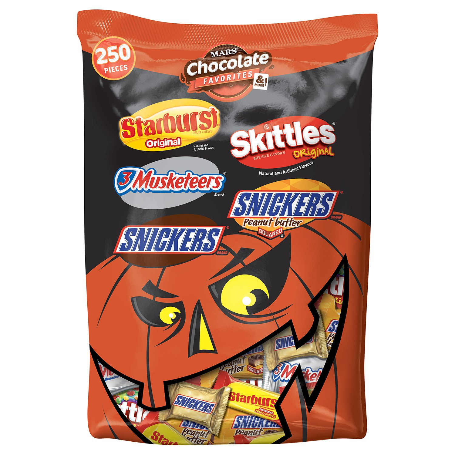 amazoncom mars chocolate and more favorites halloween candy variety mix 951ounce 250piece bag grocery u0026 gourmet food