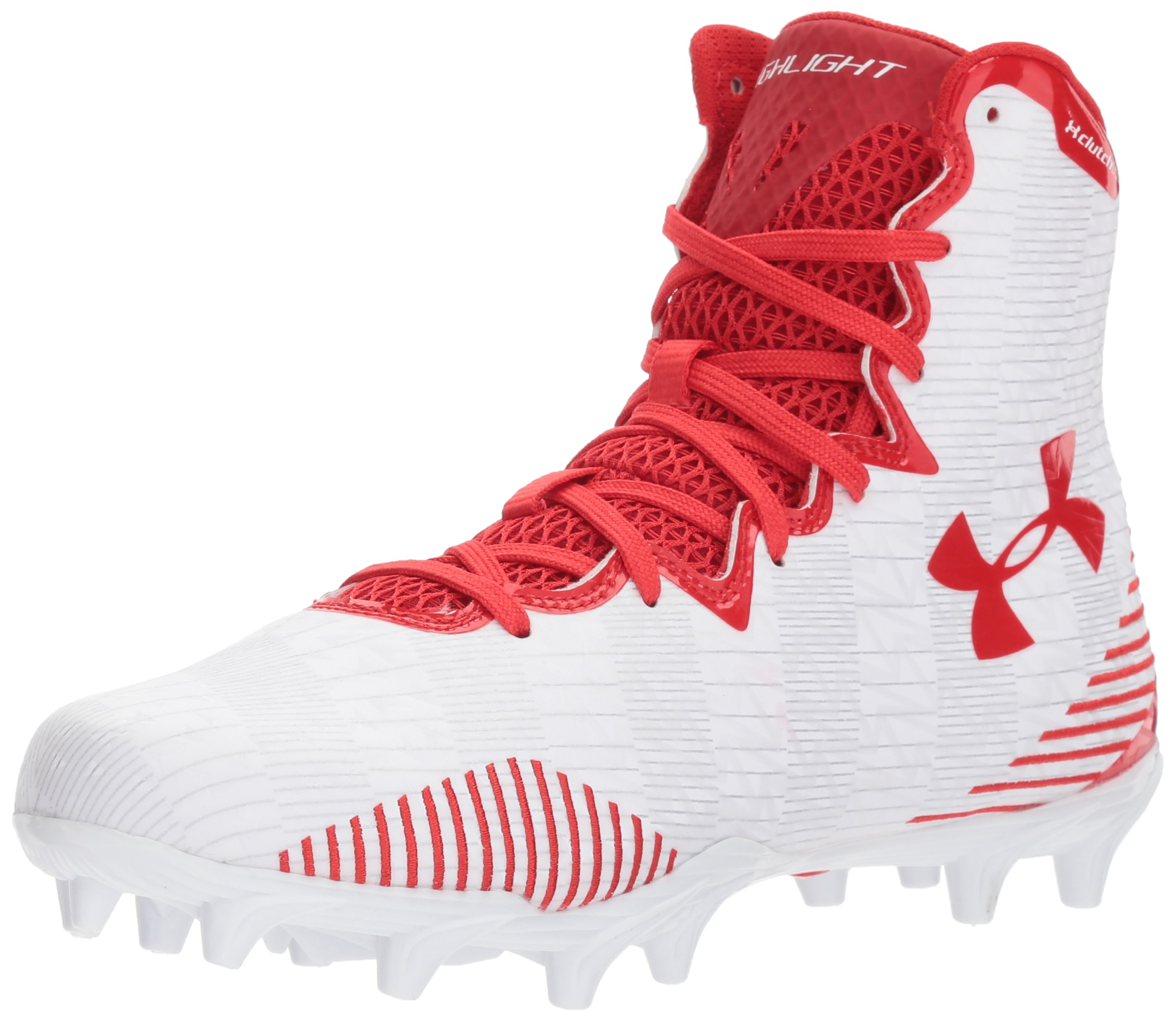Under Armour Women's Lax Highlight MC Lacrosse Shoe, White (161)/Red, 5.5
