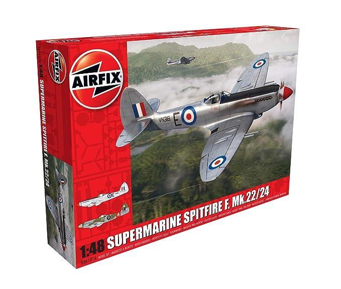 Amazon.com: Airfix Supermarine Spitfire F. MK 22/24 1:48 ...