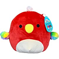 Squishmallow 8 Inch Paco The Parrot Plush Toy, Super Pillow Soft Plush Stuffed Animal, Red
