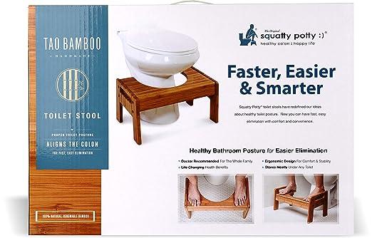 Swell Squatty Potty The Original Adjustable Height Bathroom Toilet Stool Tao Bamboo Evergreenethics Interior Chair Design Evergreenethicsorg