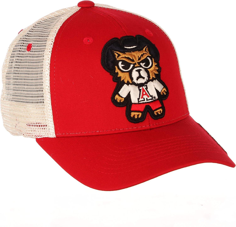 Zephyr Summertime Trucker Mesh Snapback Cap NCAA Curved Bill One Size Adjustable Baseball Hat