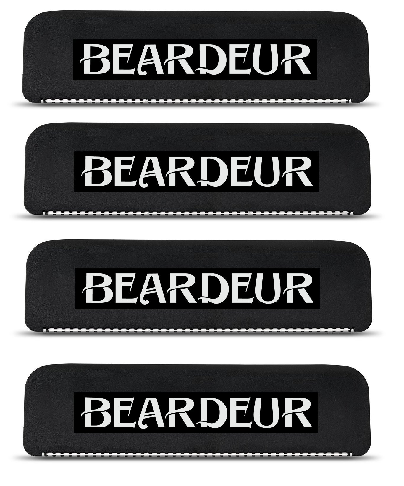 Men's Back Hair Shaver _ Refill Blades - Replacement Cartridges_ Remove Unwanted Hair Easily_ New, Safe & Durable Design, Perfect For Dry & Wet Use (Set of 4 Back Shaver Blades)