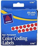Avery Permanent Color Coding Labels, 0.25 Inches, Round, Pack of 450 (5790)
