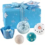 Bomb Cosmetics Let It Snow Handmade Wrapped Gift Pack [Contains 5-Pieces], 485g
