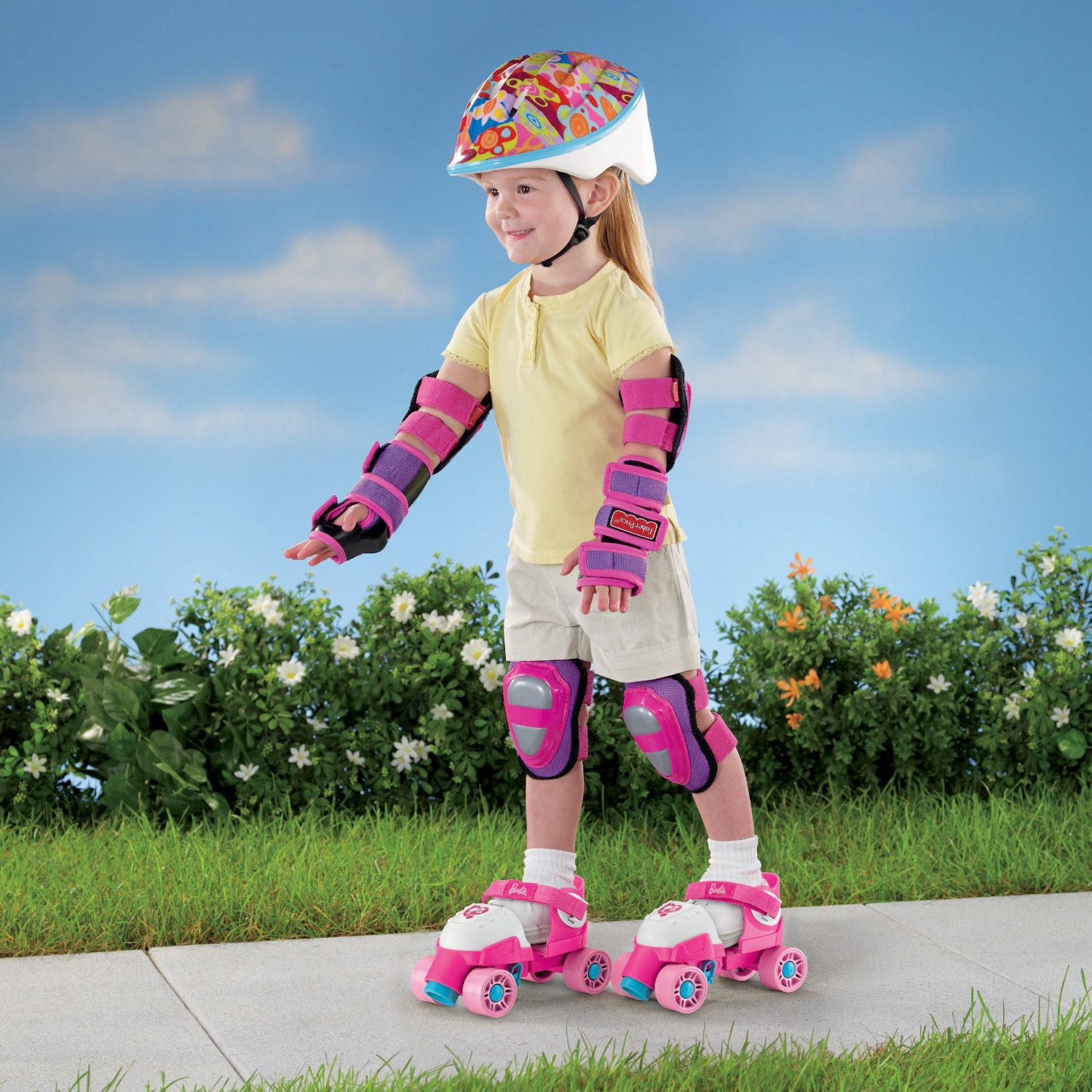 Roller skates under 20 dollars - Amazon Com Fisher Price Grow With Me 1 2 3 Roller Skates Pink Toys Games