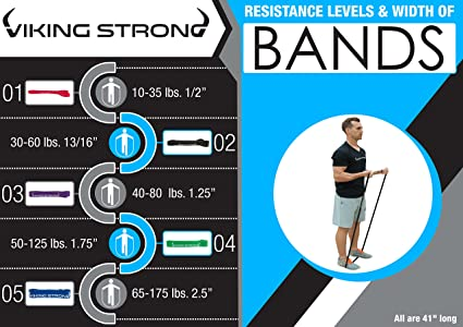 Pull Up Bar Assist Band By PXT360: Varying Levels Of Resistance Home Gym Equipment For Strength Training Arms And Legs Exercises 65-175 Pounds Tension 2.5/'/' Crossfit