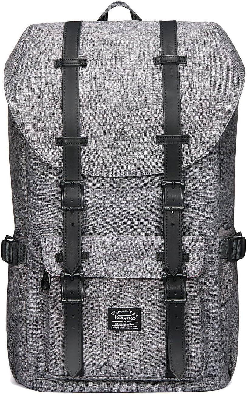 KAUKKO Laptop Outdoor Backpack Travel Hiking Camping Rucksack Casual College Daypack Fits 15